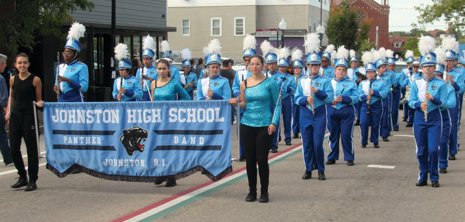PROUD PANTHERS: The national award-winning Johnston High School Panther Marching Band made quite an impact on spectators in Sunday's Columbus Day Parade on Providence's Federal Hill.