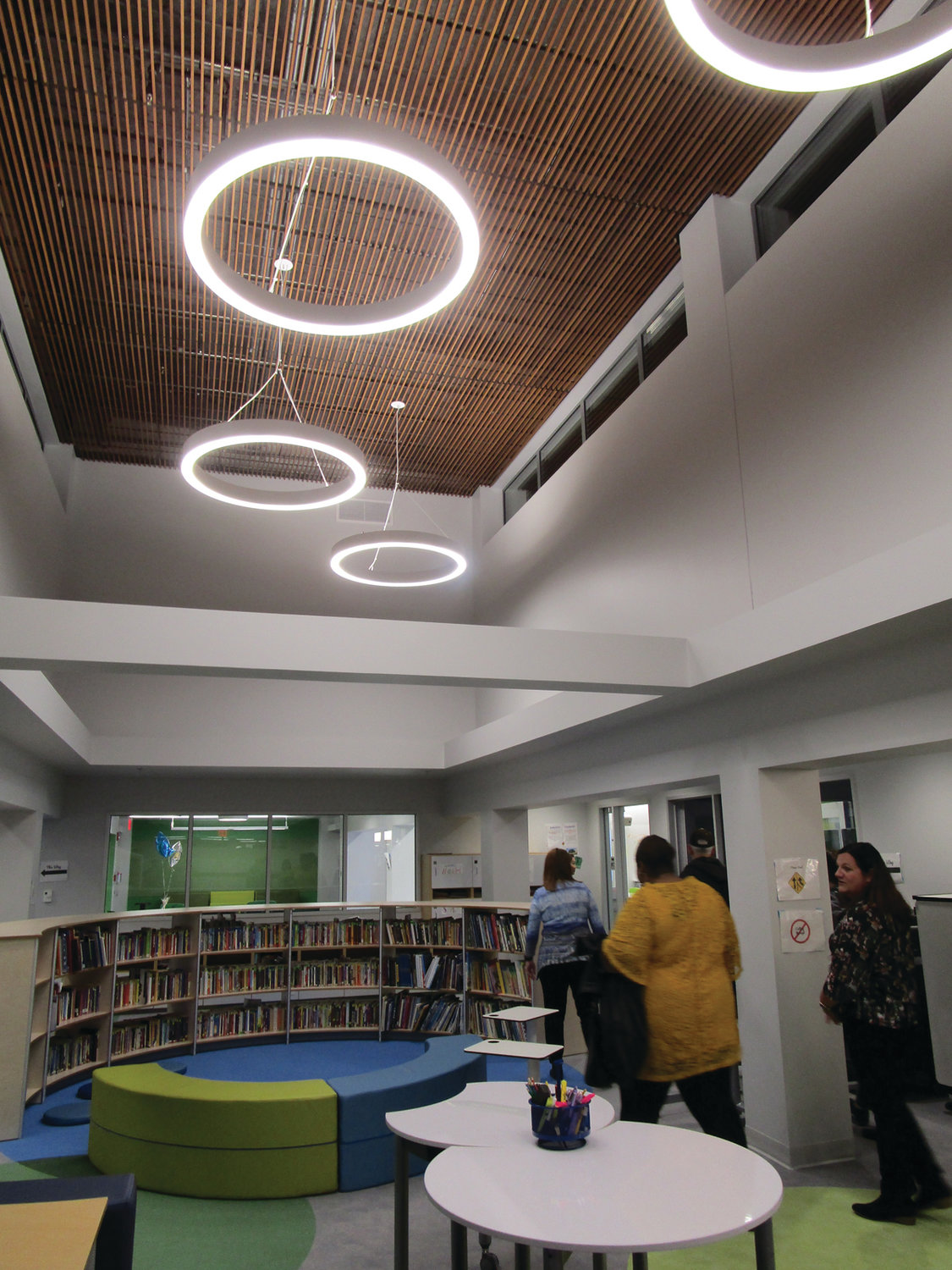 OPEN SPACES: The renovated Learning Community wing  at Eden Park Elementary School features open, bright spaces.