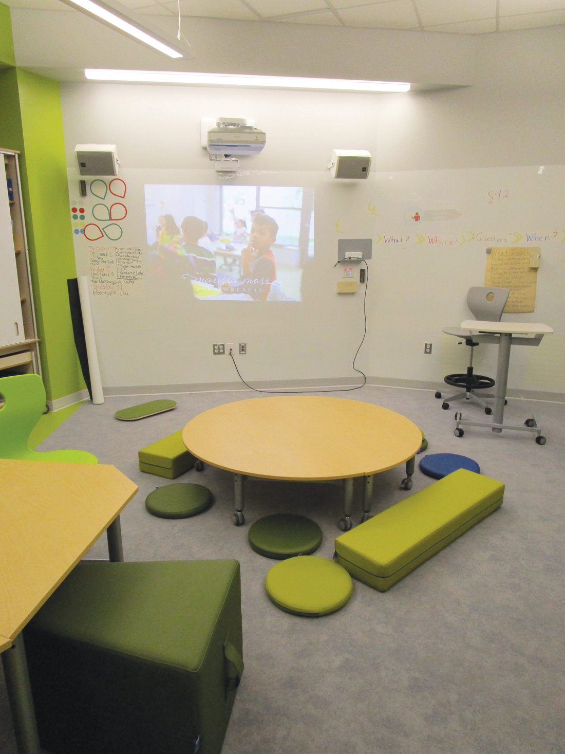HAVING OPTIONS: The various spaces in the Eden Park Learning Community feature a range of new furniture and various types of seating, along with updated technology.