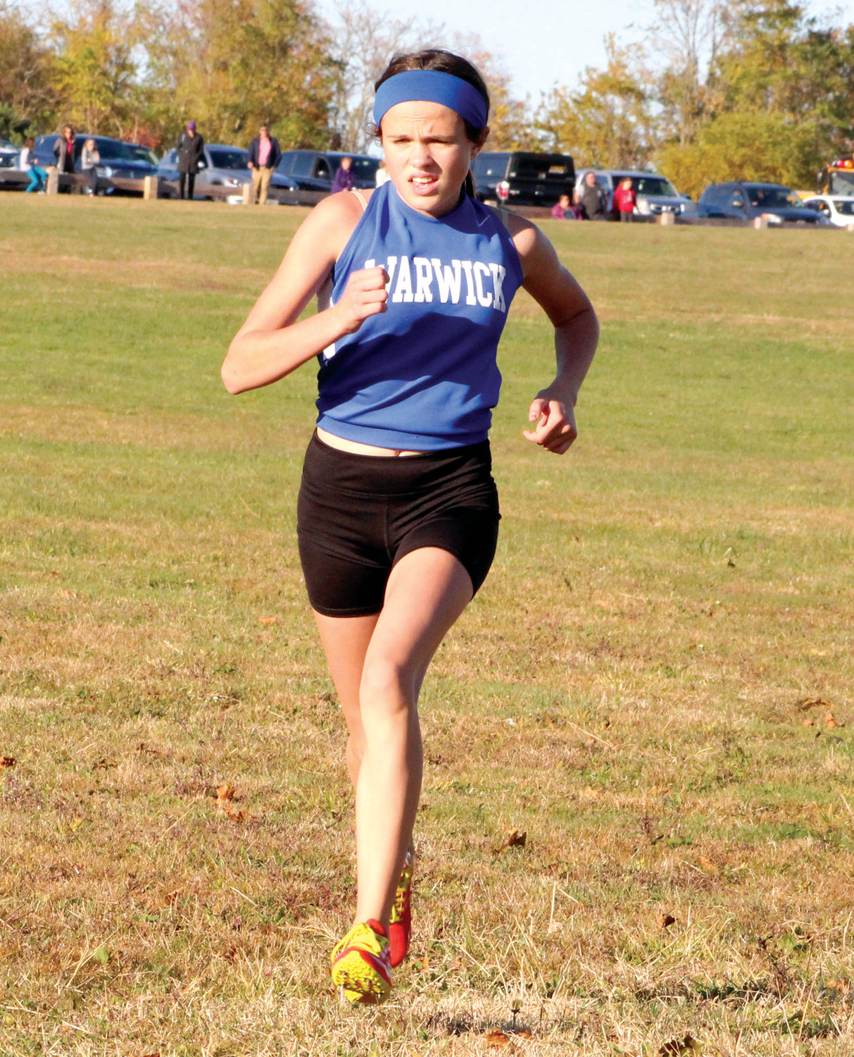 RUNNING AWAY WITH IT: Vets' Keaney Bayha on Monday.