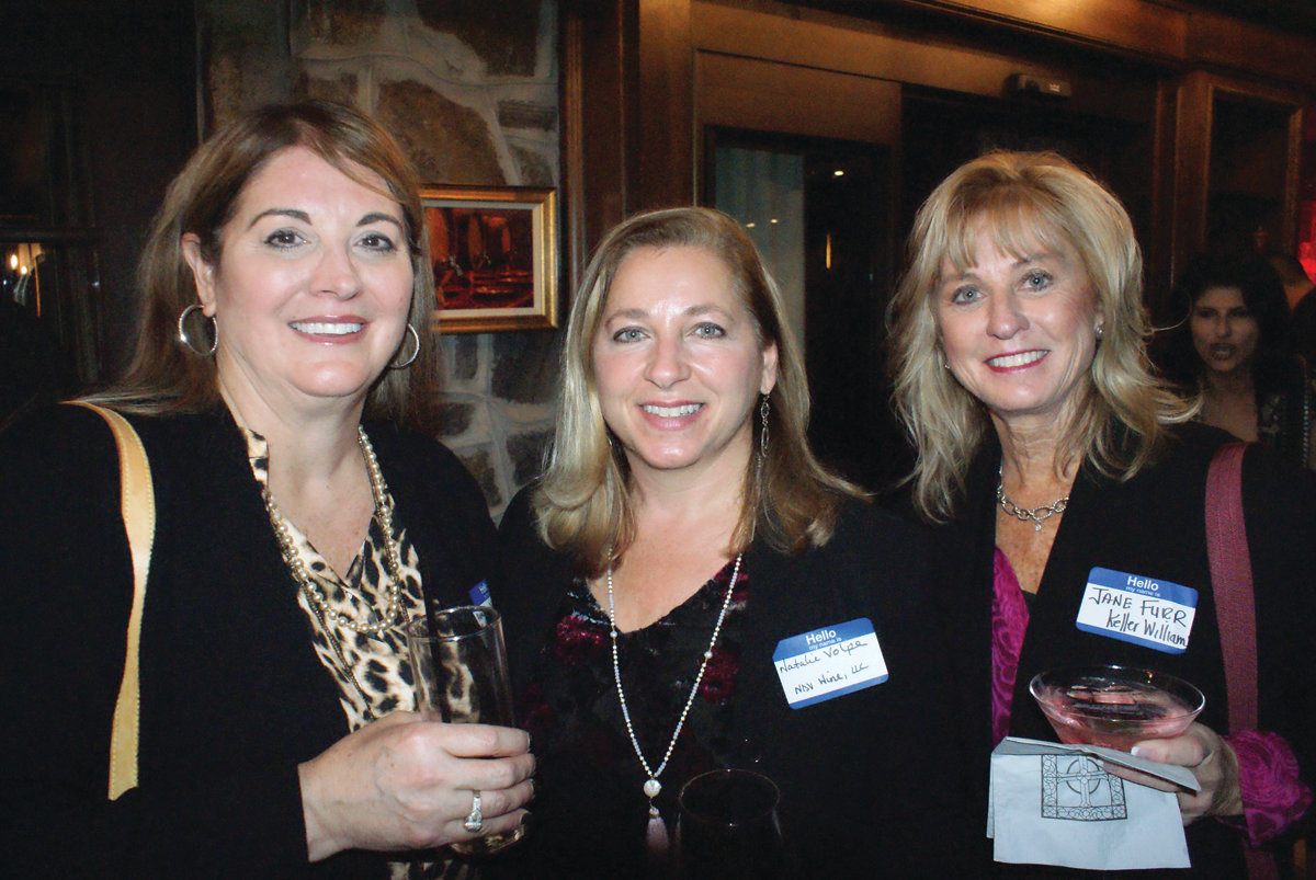 GREAT TIME TO MEET: Pictured are Andrea DeSimone of Polacek Center for Plastic Surgery along with Natalie D'Alessandro-Volpe of NDV Wine Agents and Jane Furr of Keller Williams Realty.