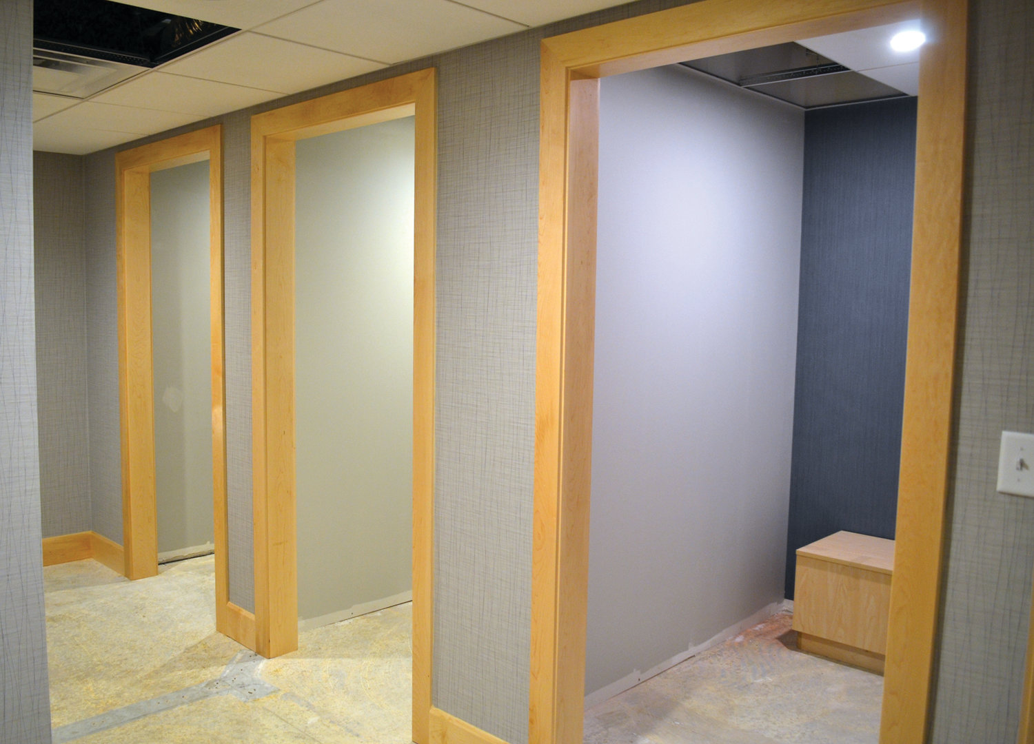 WAY MORE ROOM: These spacious and well-lit changing rooms are just some of the many new additions to RIMI's breast imaging center.