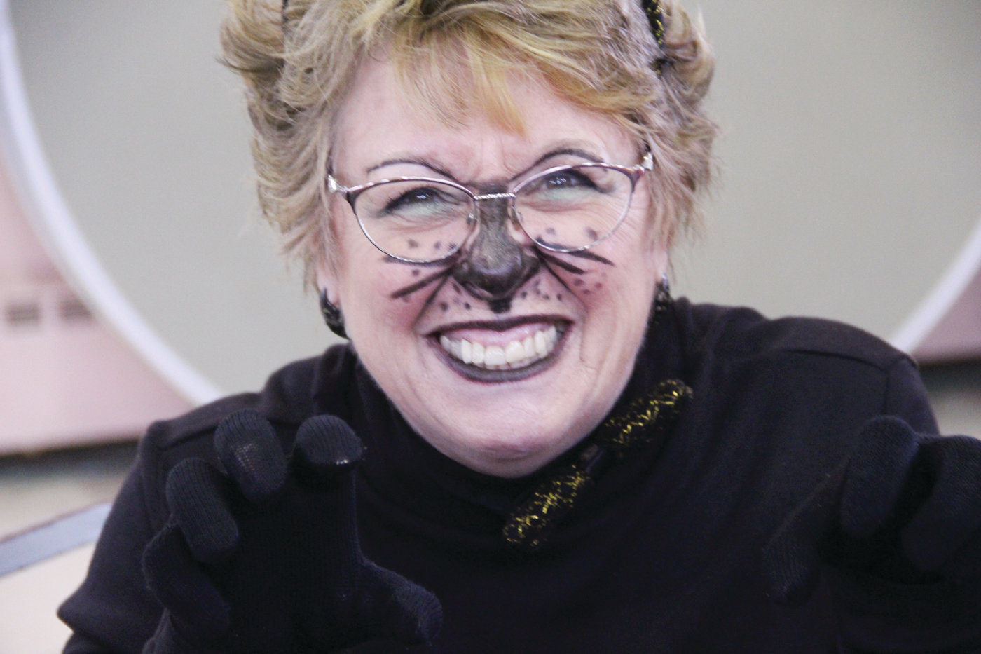 CAT'S MEOW:  Betty Toye neither bared her fangs nor showed her claws, but she had a smile to purr for.