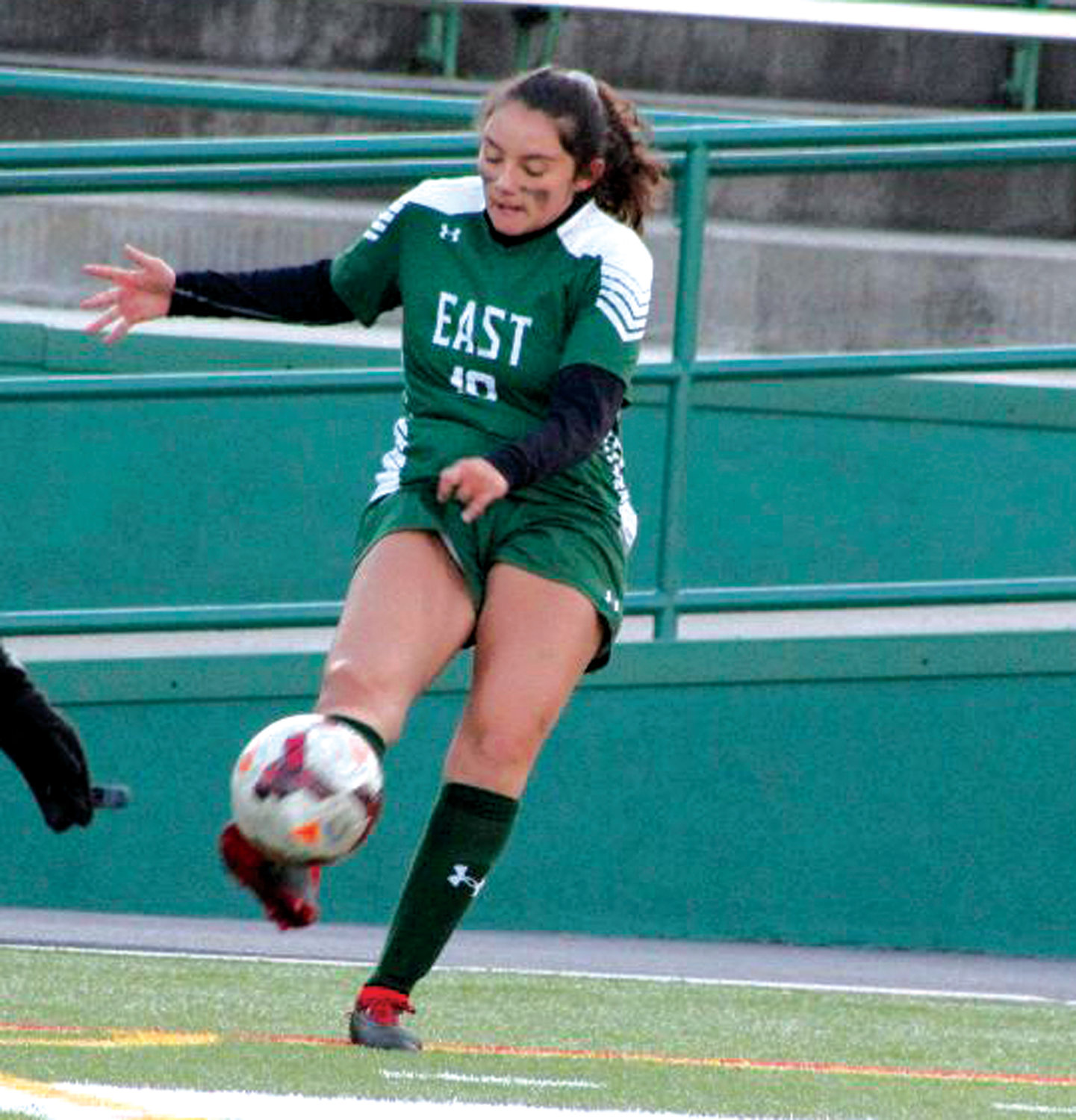 CORNER: Cranston East's Evelyn Vallee.