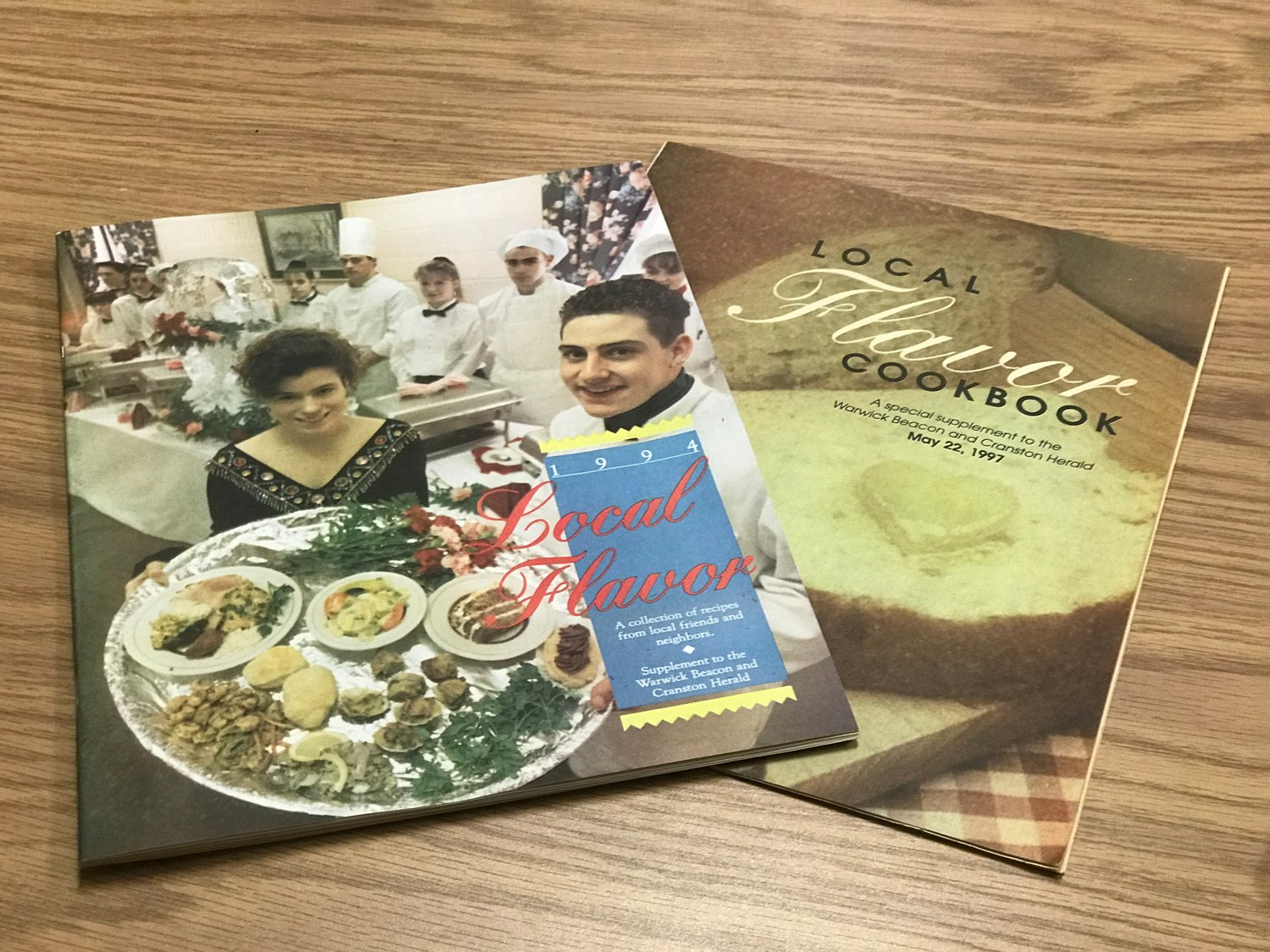 "LOCAL TASTES: The 1994 and 1997 editions of ""Local Flavor"" are filled with recipes from readers. The culinary creations shared by members of the community include appetizers, entrees and even cocktails."