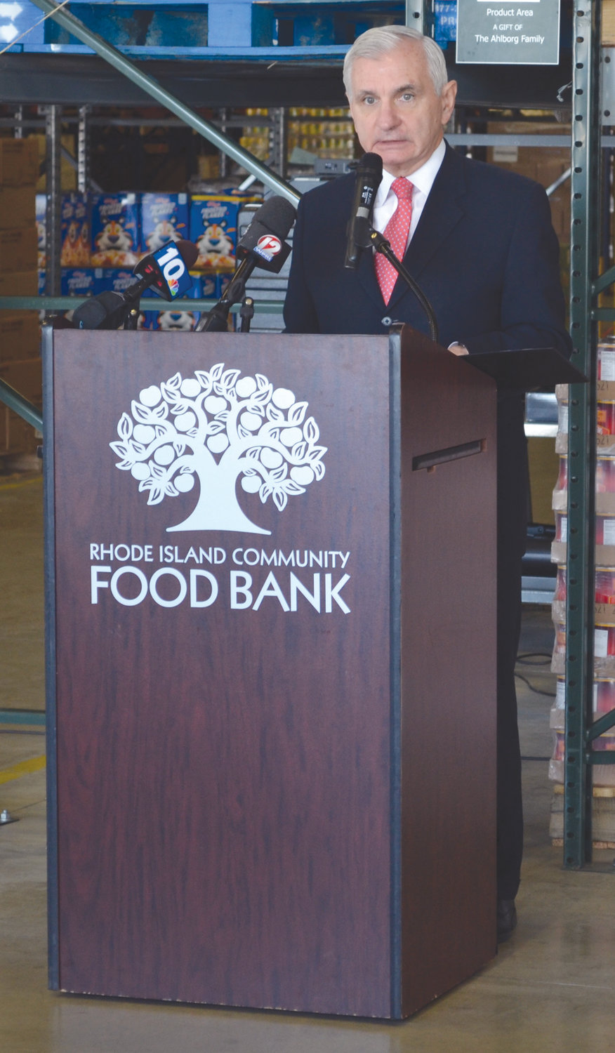 TAKING ACTION: Sen Jack Reed said cuts to SNAP benefits could dramatically affect the nutrition of children across the state.
