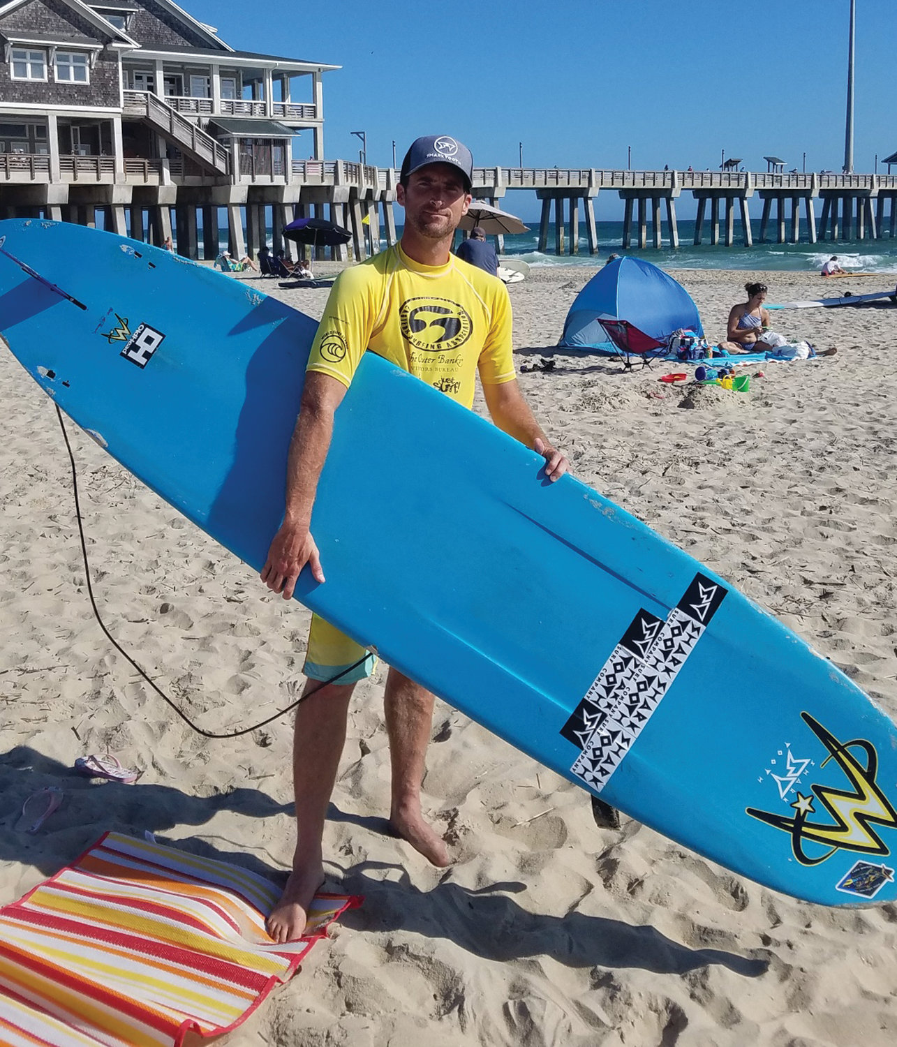 SURF'S UP: Christopher Herbert at the Eastern Championships.