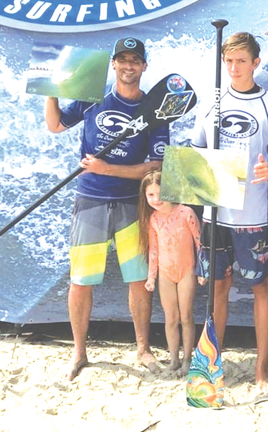 STRONG FINISH: Christopher Herbert at the Eastern Surfing Championships in North Carolina.