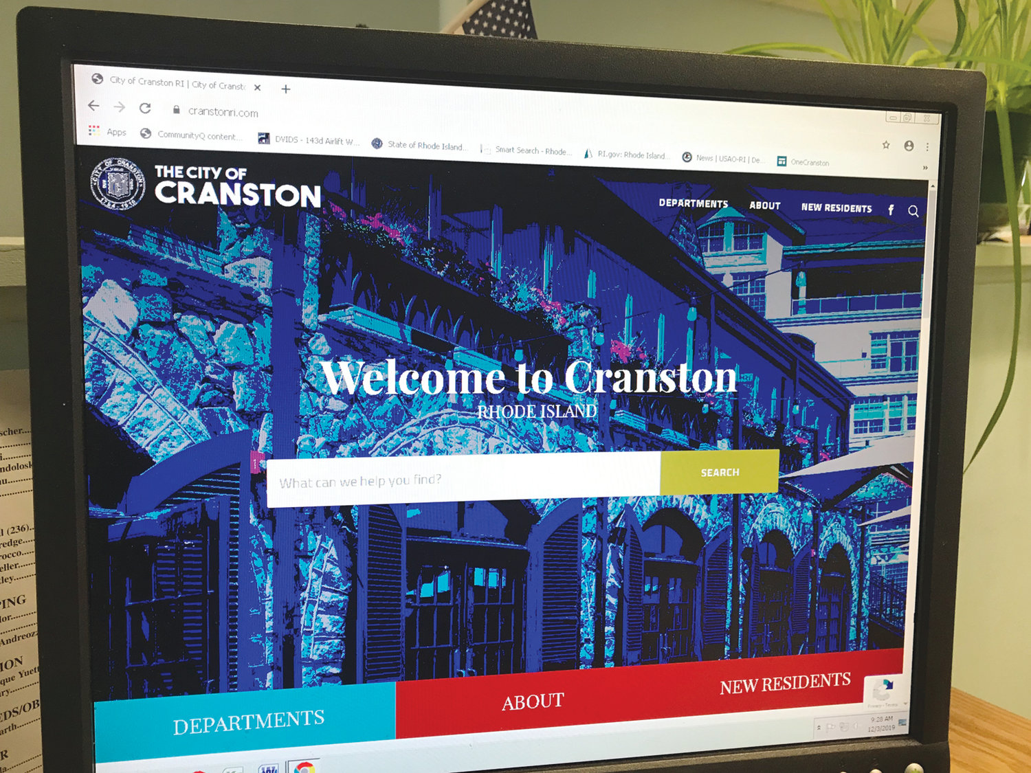 NEW LOOK: Visitors to the city's online home at cranstonri.com have noticed a new look over the last week. The redesign took place over the course of 3½ months at a cost of $15,500.
