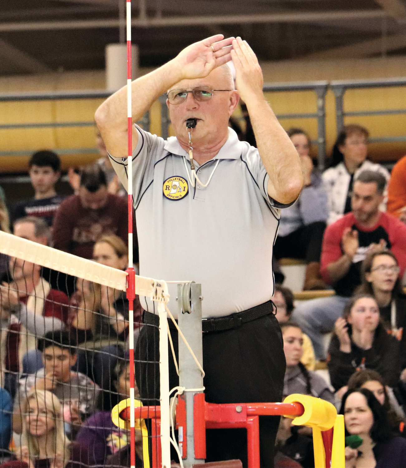 MAKING THE CALL: Ray DeAngelis in a recent match.