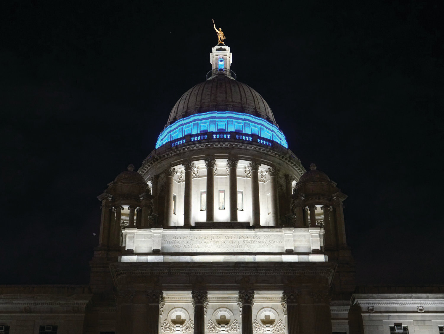 PROUD MOMENT: John and Alex Amaral spoke proudly of their involvement with JDRF, efforts that culminated in seeing the State House lit up blue for a week in recognition of type 1 diabetes.