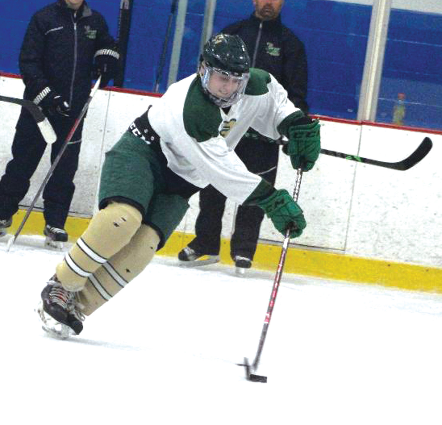 UP THE ICE: Hendricken forward Chris Cambio.