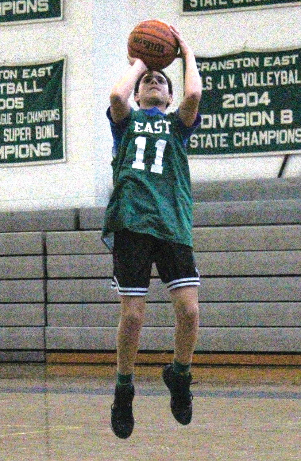 JUMP SHOT: Cranston East's Joel Velasquez puts up a shot at a recent practice. Velasquez is set to be a key player for the Bolts.