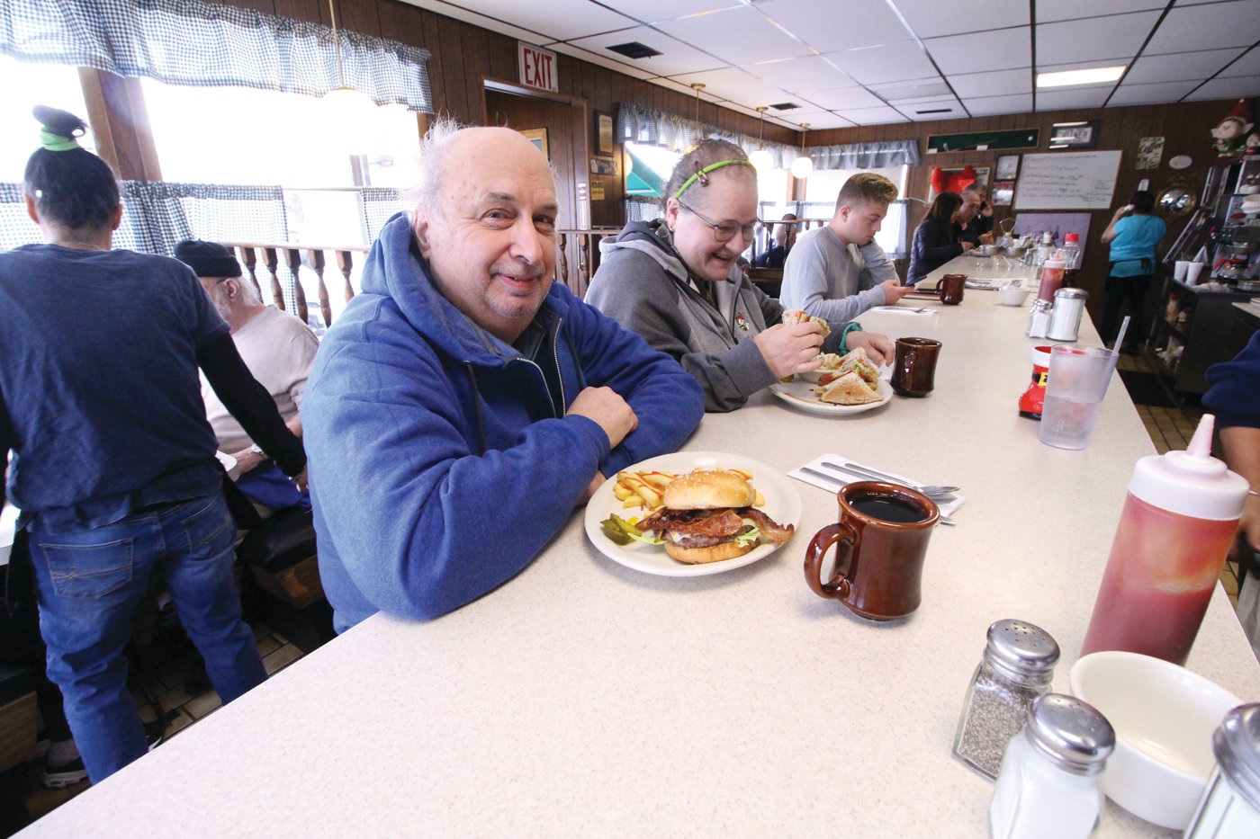 "REGULARS: Andy and Jan Stohlbom call the Jefferson Diner their ""home away from home,"" adding, ""whatever they make is good."""