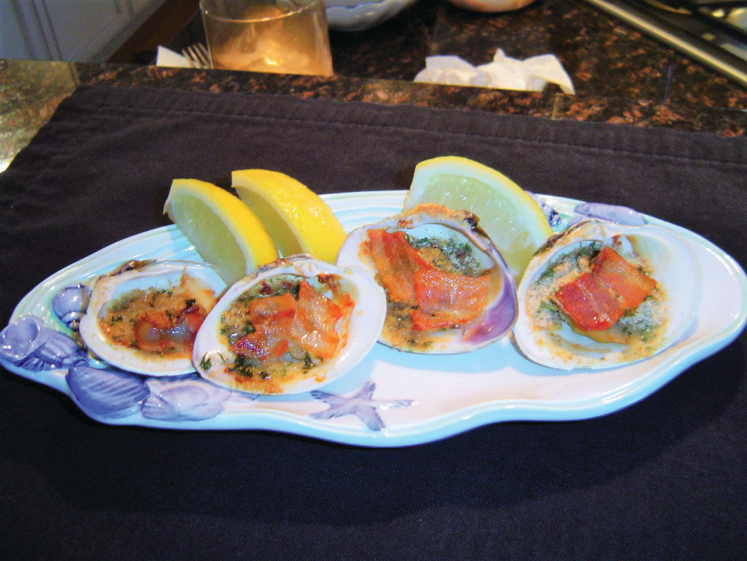 Capt. Dave's clams casino make a great holiday hos d'oeuvre.