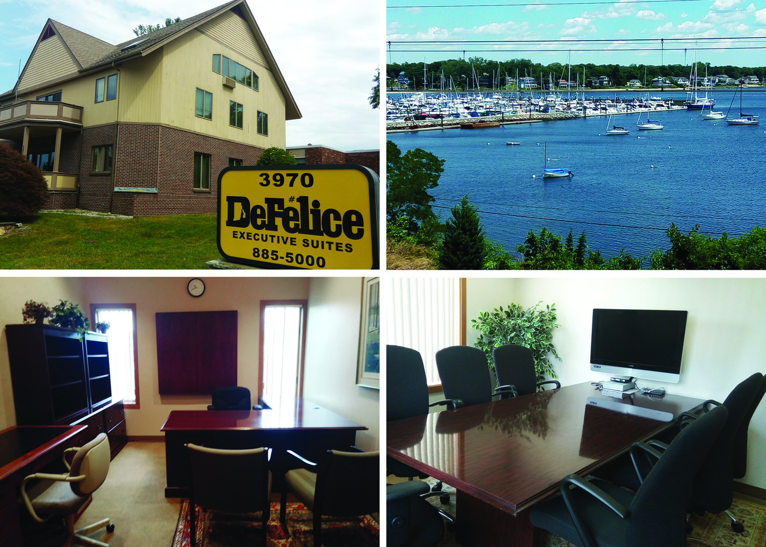 The DeFelice Center Executive Office Suites, conveniently located on Post Road in Warwick, are the perfect solution for the modern worker looking for individually-tailored office space ~ including this view of the sparkling waters of the bay.
