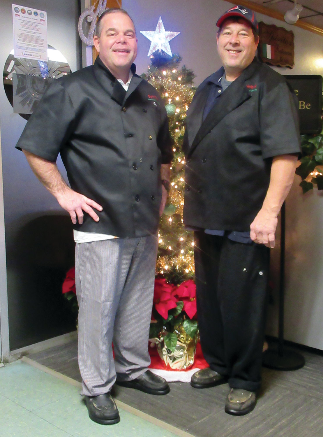 CLASSIC CHEFS: The brothers Spirito – Greg and David – will prepare the Richard D. Salzillo Memorial Game Dinner on Sunday, Jan. 26, 2020, inside the Kelley-Gazzerro VFW Post 2812, where they also operate their famed restaurant Spirito's Restaurant and catering business.