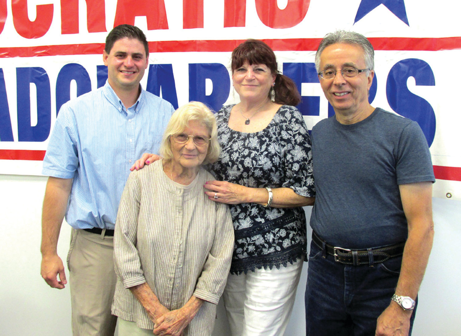 AWESOME ADVISOR: People like former District I Councilman Richard J. DelFino III (left) current Councilwoman Linda Folcarelli and School Committee Chairman Robert LaFazia all benefited from the mentorship of Mary Cerra.