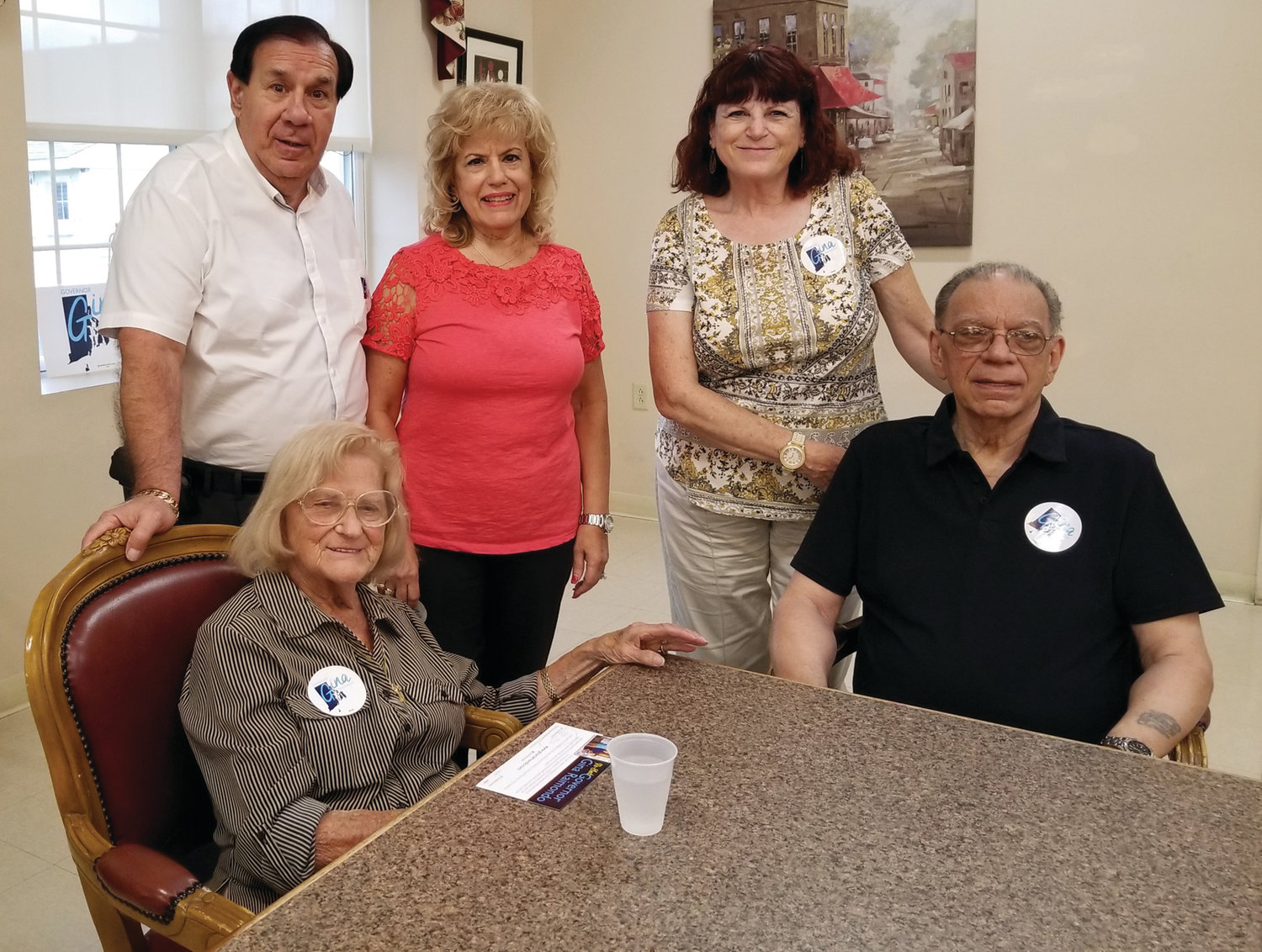 FRIENDLY FACES: Some of Mary Cerra's best friends, who in recent years helped take her to different social and political events, are Cliff and Ann Esposito, Linda Folcarelli and Frank Silva.