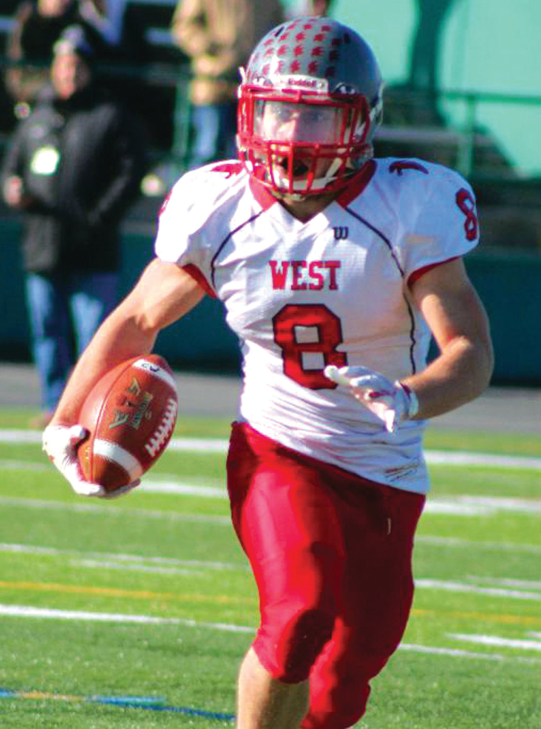 EYES ON STONEHILL: Cranston West quarterback Cam Alves recently announced his decision to continue playing football at Stonehill College.
