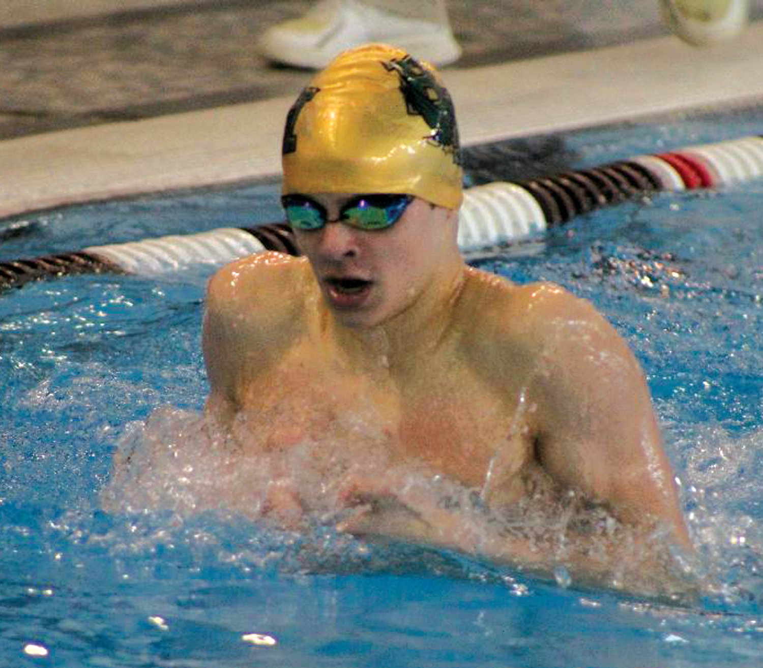 MAKING A SPLASH: Hendricken's Tim Andrews.