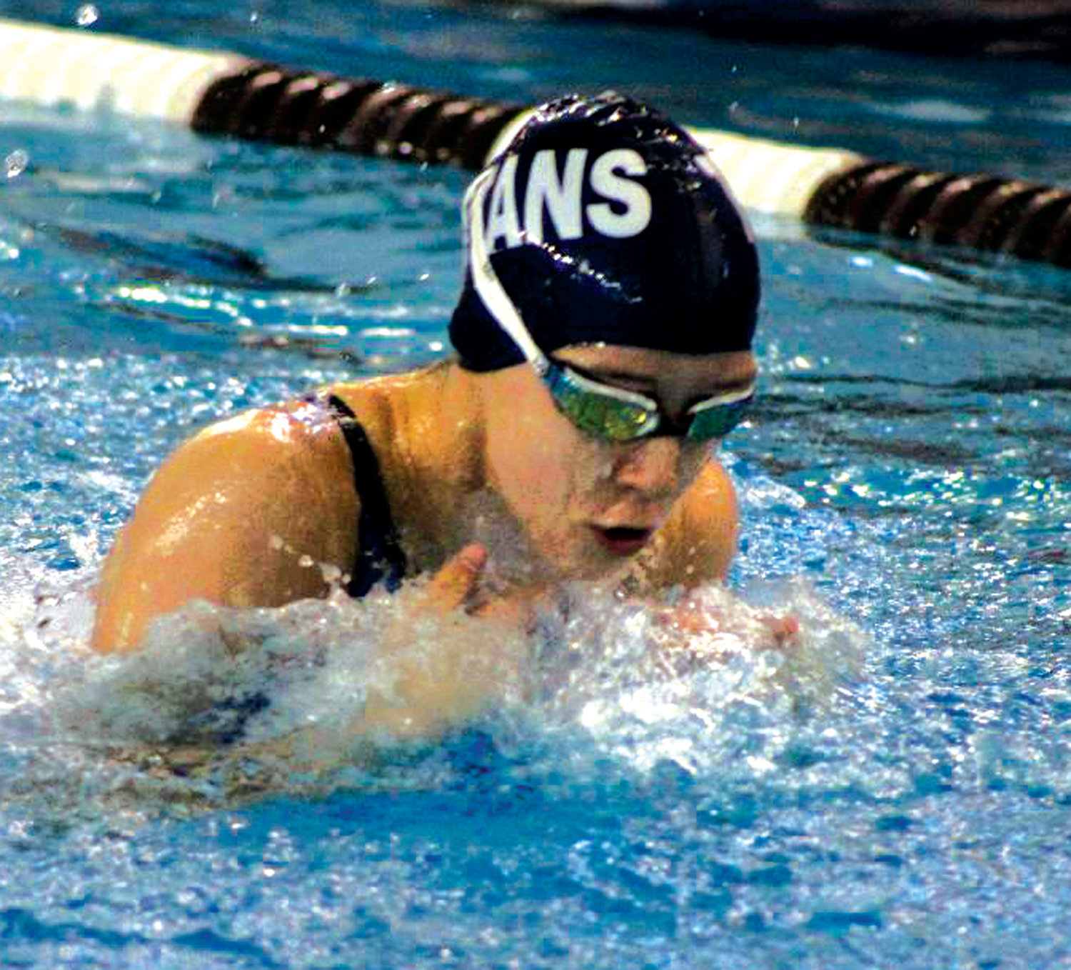 HITTING THE POOL: Toll Gate's Brooke Menard.