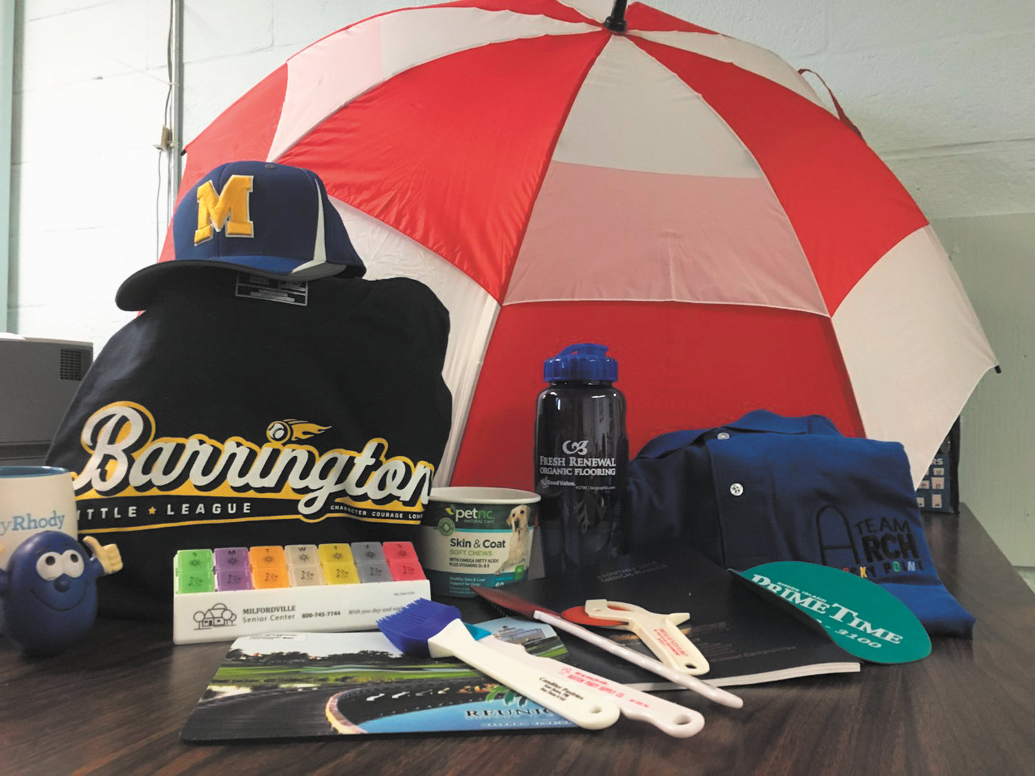 Check out some of the many promotional products available through RhodyPrints ~ all providing the perfect platform to spread the word about your business or to make your next event personal and unforgettable.