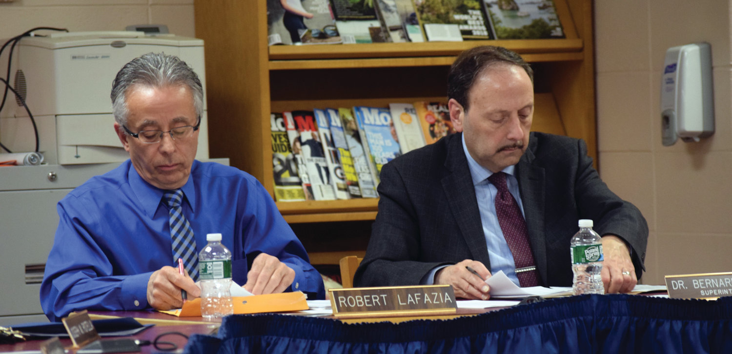 LOOKING AHEAD: School Committee Chairman Robert LaFazia and Superintendent of Johnston Schools Bernard DiLullo both said during the board's March 10 meeting that the district will have to look at certain events going forward in response to coronavirus.