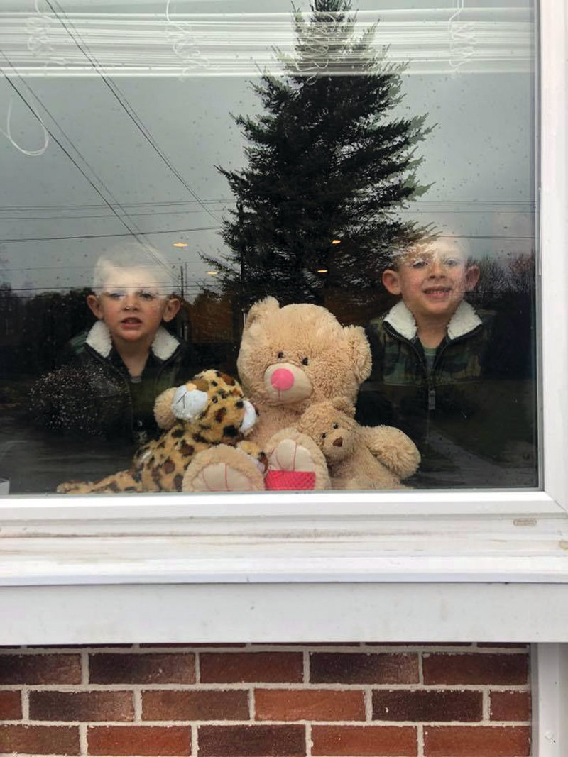 Hunters found more than stuffed animals in this Cranston Window.