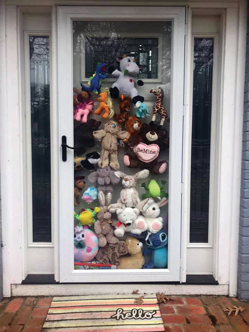 A whole door full of critters in Warwick.