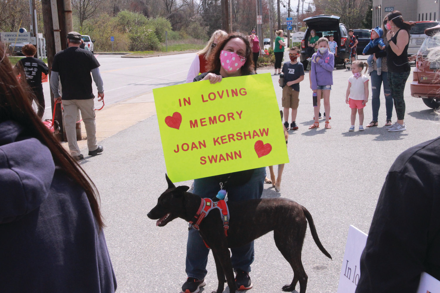 WORKED WITH JOAN: ICU nurse Laurie Carey and her dog outside the ICU at Kent.