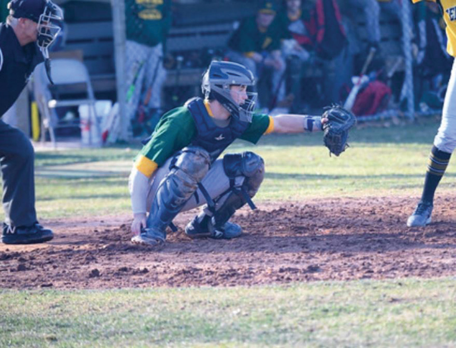KENTUCKY BOUND: Brandyn Durand behind the plate last spring.