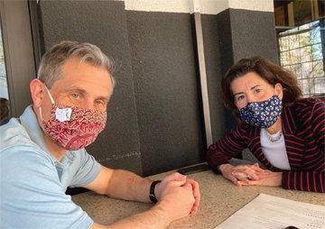 DINING IN CRANSTON: Gov. Gina Raimondo on Friday said she and her husband, Andy Moffit, planned to dine out