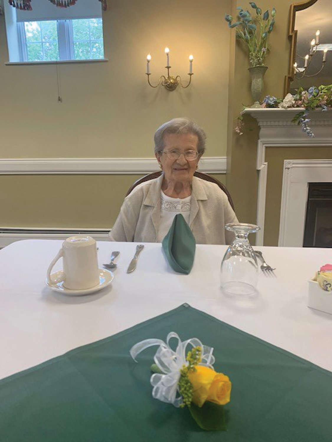 ALL SMILES: Ida Pezzullo, who will turn 100 in August, didn't retire until she was well into her 80s.