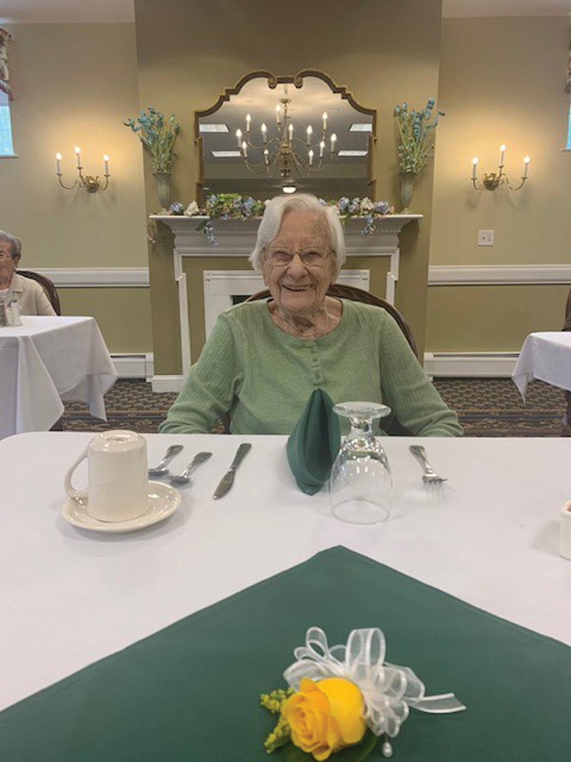 'LIVE OUR LIFE OUR WAY': Nancy Croce, 103, was among the beaming centenarians honored during a recent brunch at The Bridge at Cherry Hill.