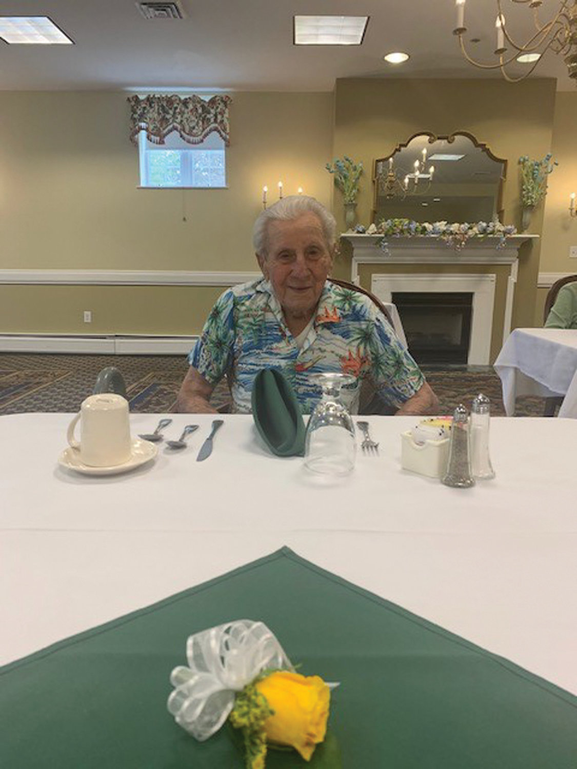 ALWAYS BE NICE: Nat Piccirilli, 100, said listening to one's parents and practicing kindness are important.
