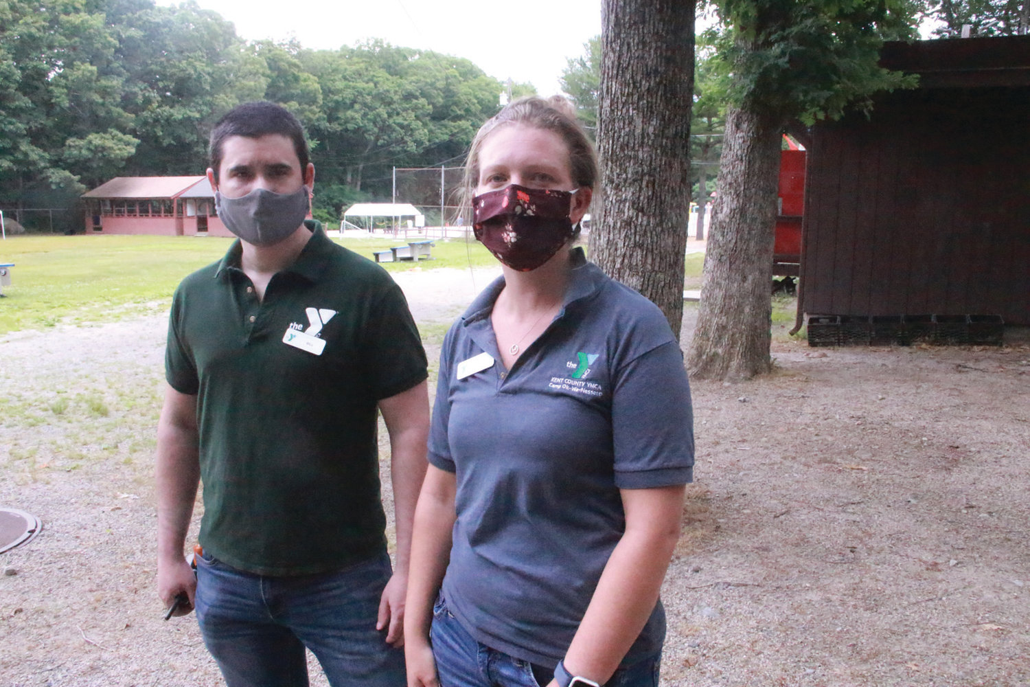 CAMP WITH PRECAUTIONS: Bill McCabe and Becky Merritt run the Y summer camp. They and counselors wear masks, but the campers who range in age from 6 to 11 don't. Under COVID-19 reopening guidelines, the camp is divided into groups of no more than 15, including two counselors.