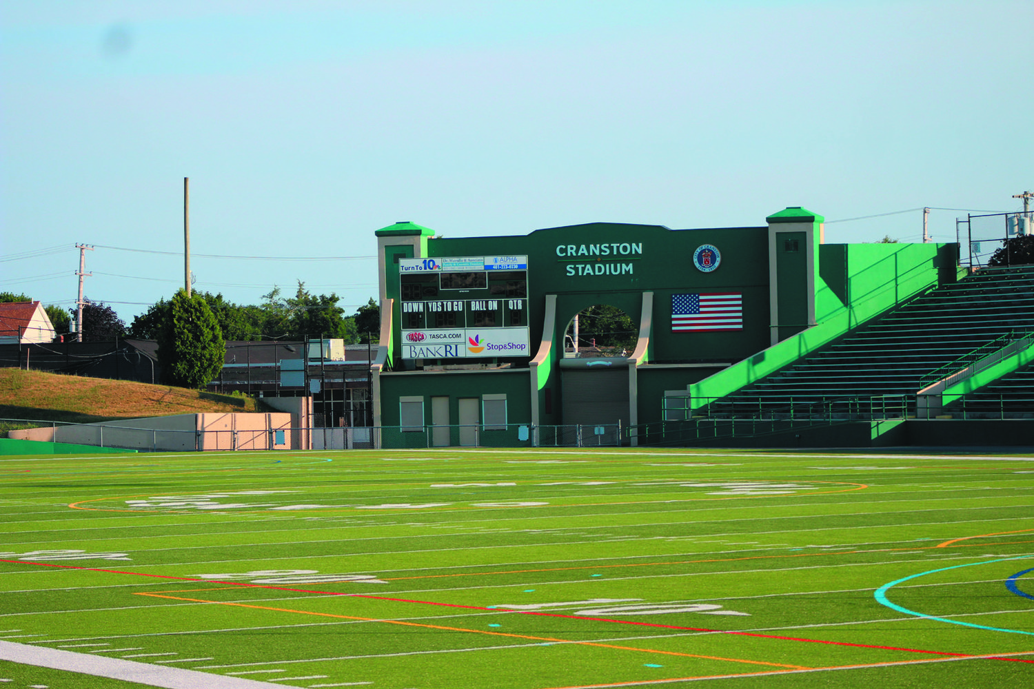 WAITING TO PLAY: A look at Cranston Stadium. The RIIL made a statement on Monday stating that it is still hopeful to have a fall sports season and has begun exploring ways of ensuring a safe environment for student-athletes.