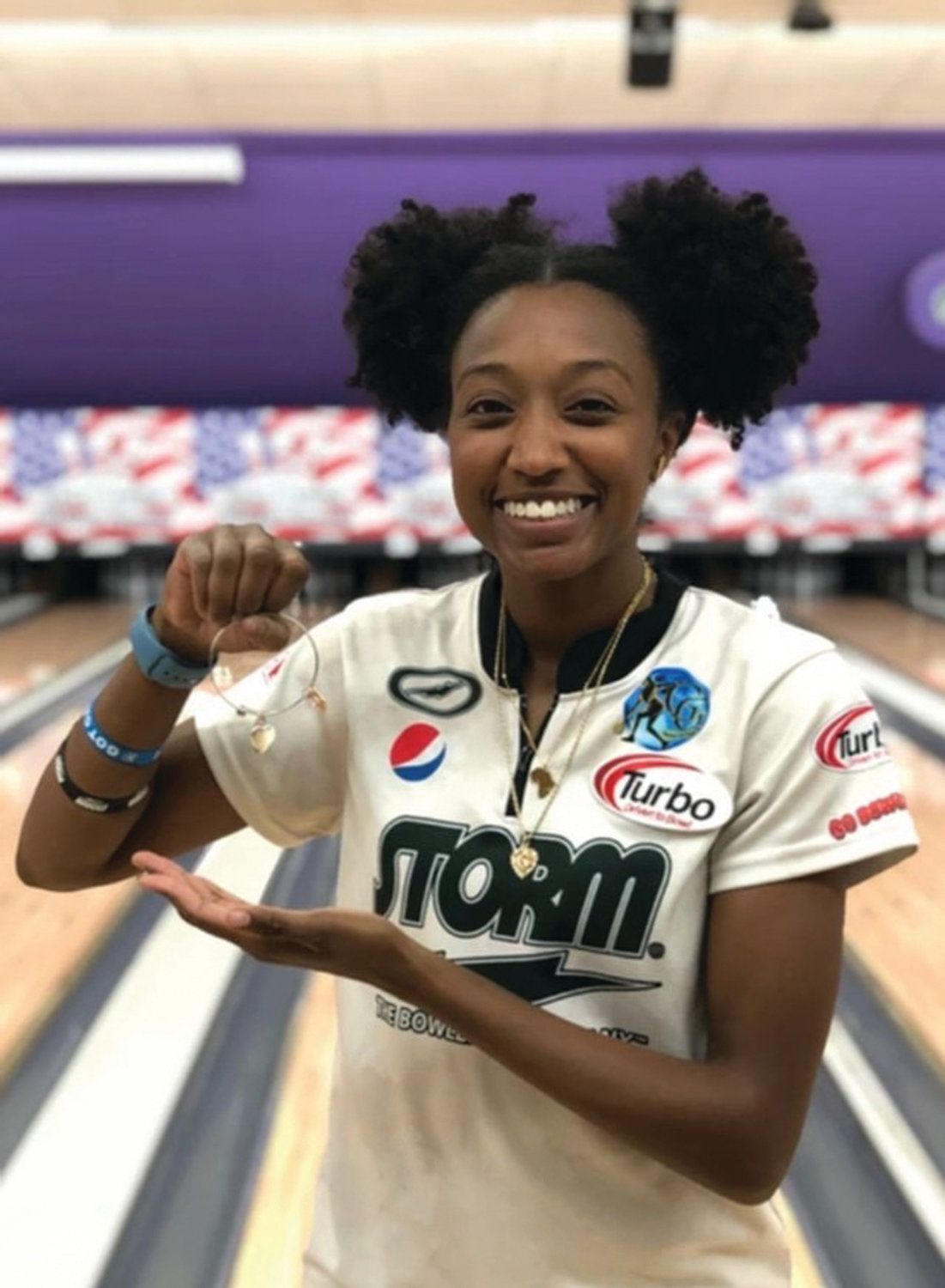 "'SHARE MY STORY': In the wake of her bowling success, Gazmine Mason and her family have started a company called Got Game. ""I am continuing to share my story with people … I can have an impact, and I want to help,"" she said."
