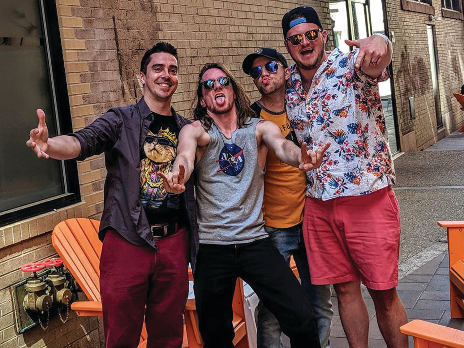 SUMMER SOUNDS: The member of Tai Chi Funk Squad – guitarist and vocalist Jake Anderson, bassist Rob Anthony, drummer Dylan Butler and keyboardist Tom White – will perform on the front lawn of Pump House Music Works in South Kingstown on Aug. 8.
