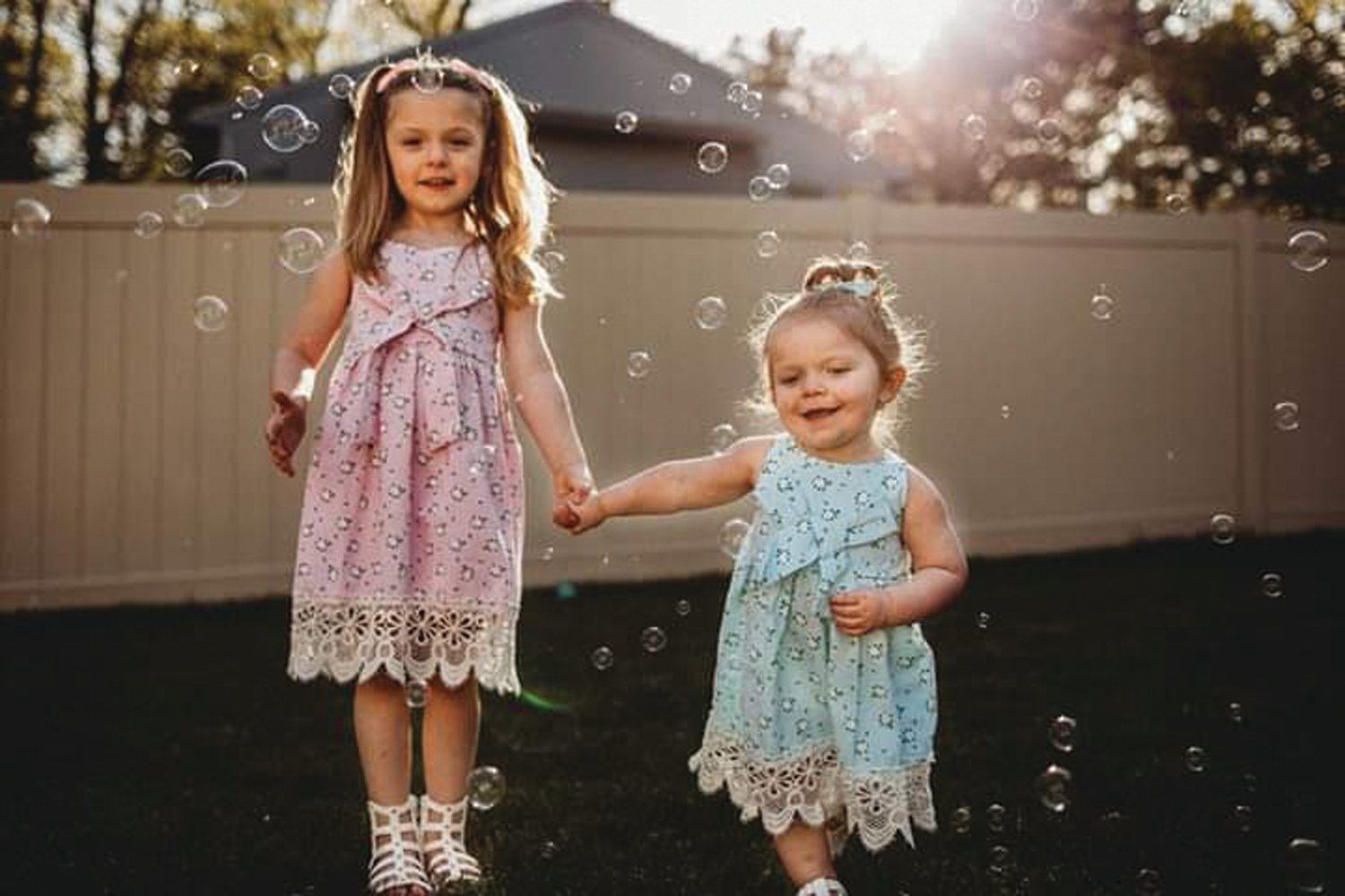 HAPPY AND HEALTHY: Lucia and Gemma Durrigan were each born healthy, but health scares resulted in stays for each at Hasbro Children's Hospital during infancy. The girls are happy and healthy today – and Lucia, apparently inspired by her ordeal, says she wants to one day be a pediatrician.