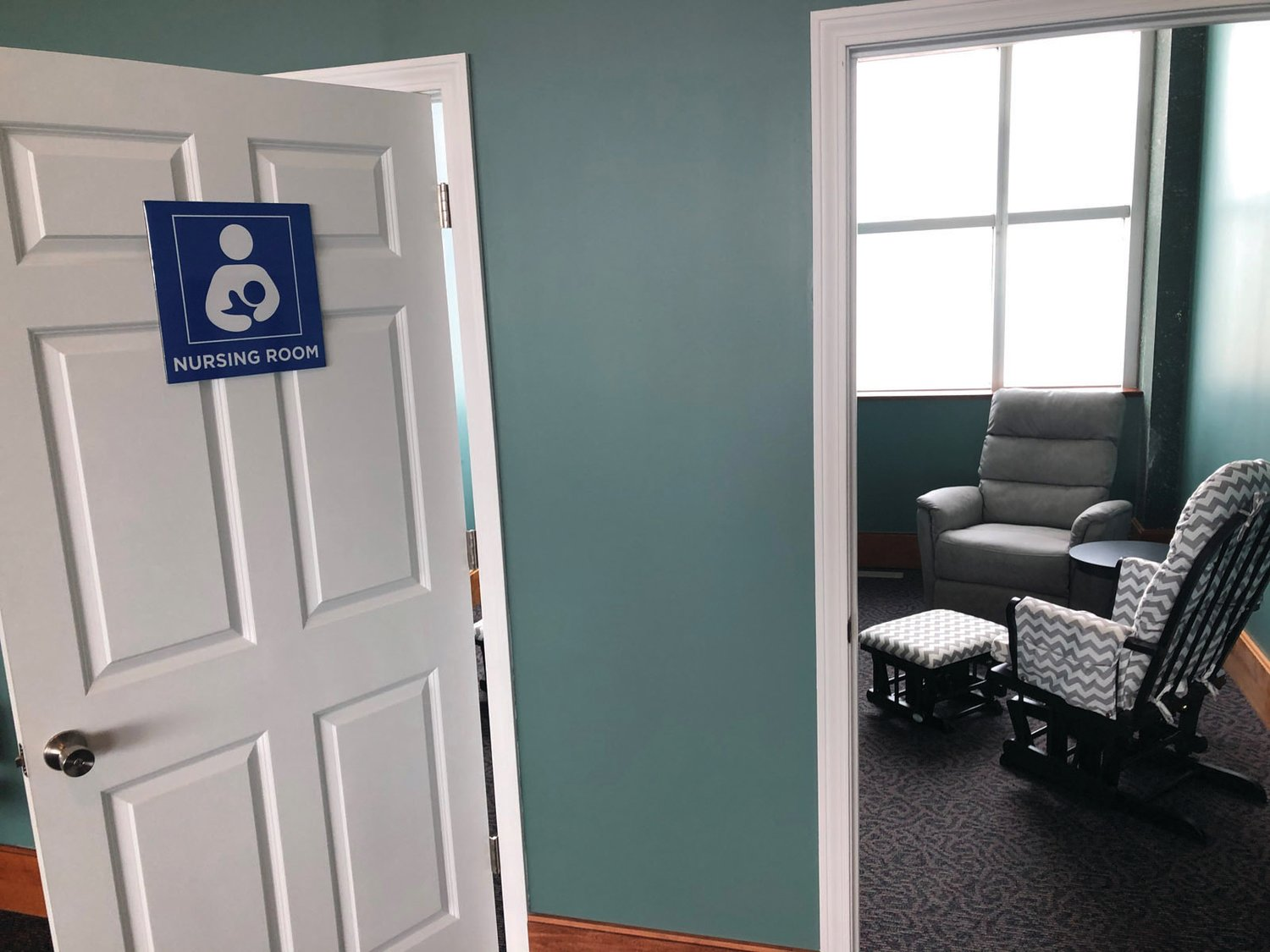 A HOMEY TOUCH: Rooms enabling mothers to nurse their children are now available to Green Airport passengers.