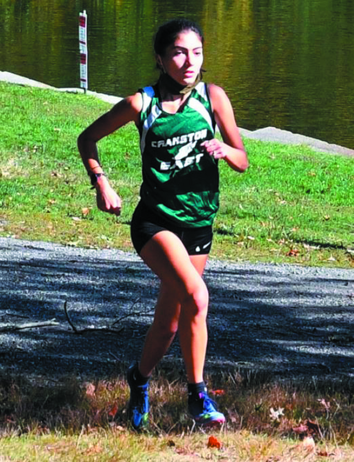 ON THE COURSE: Cranston East's Stella Loezos last weekend at Roger Williams Park.