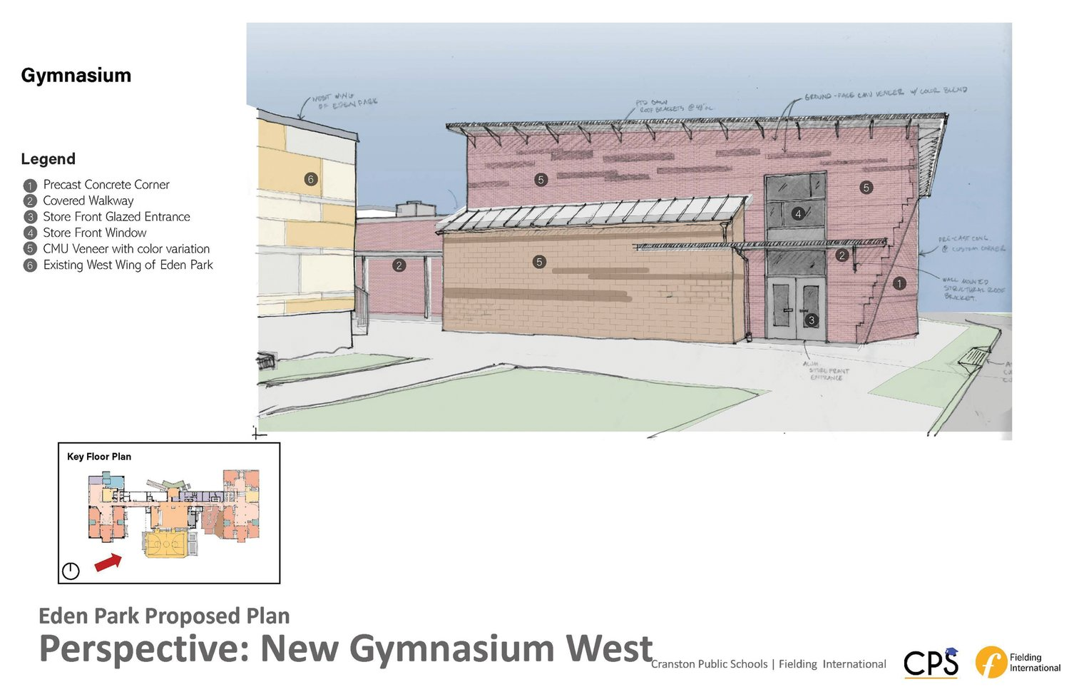 DEDICATED GYMNASIUM SPACE: School construction projects can no longer have one shared space for a cafeteria, gymnasium and auditorium. The proposed plans for Eden Park include a new, dedicated gymnasium, which will be available for community functions and play.