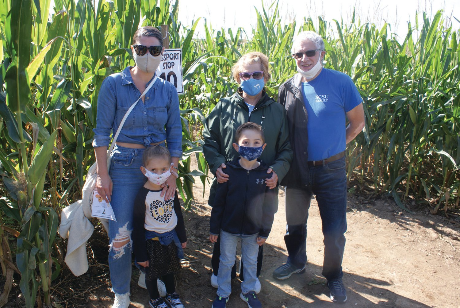 ALL IN THE FAMILY: Members of the Salinger family enjoyed fall activities at Confreda Farms over the weekend. Here, they are pictured,