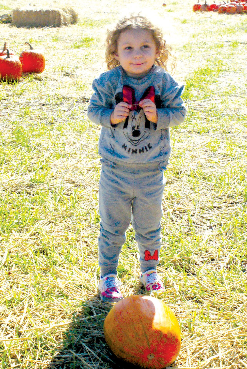 AWESOME DAY: Juanita Creamer, 3, of West Warwick was excited