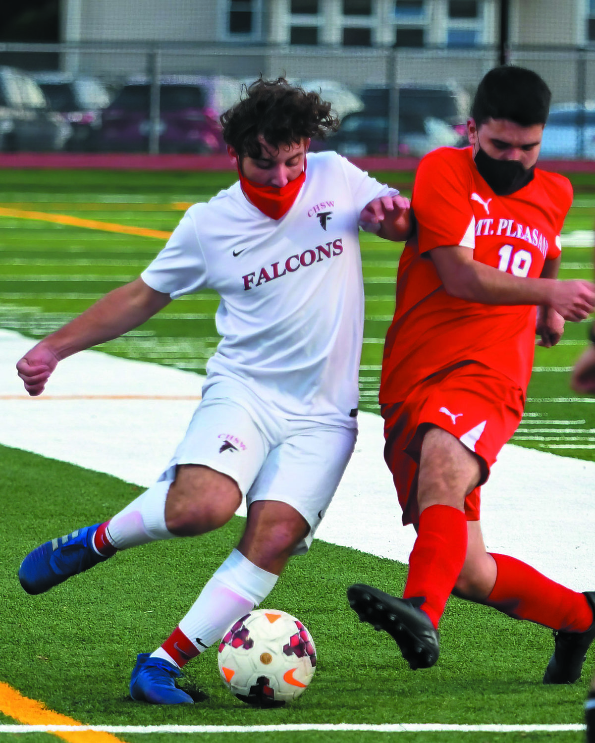 UP THE FIELD: Cranston West's Nathan Evans.