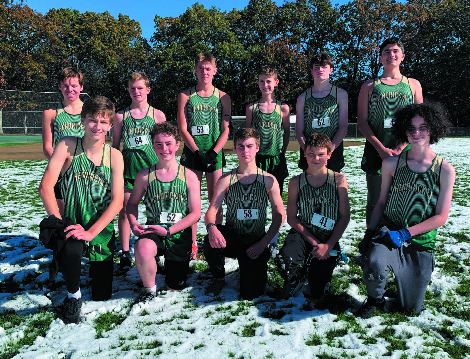 STATE CHAMPS: The Hendricken freshman cross country team after winning the state title. (Submitted photo)