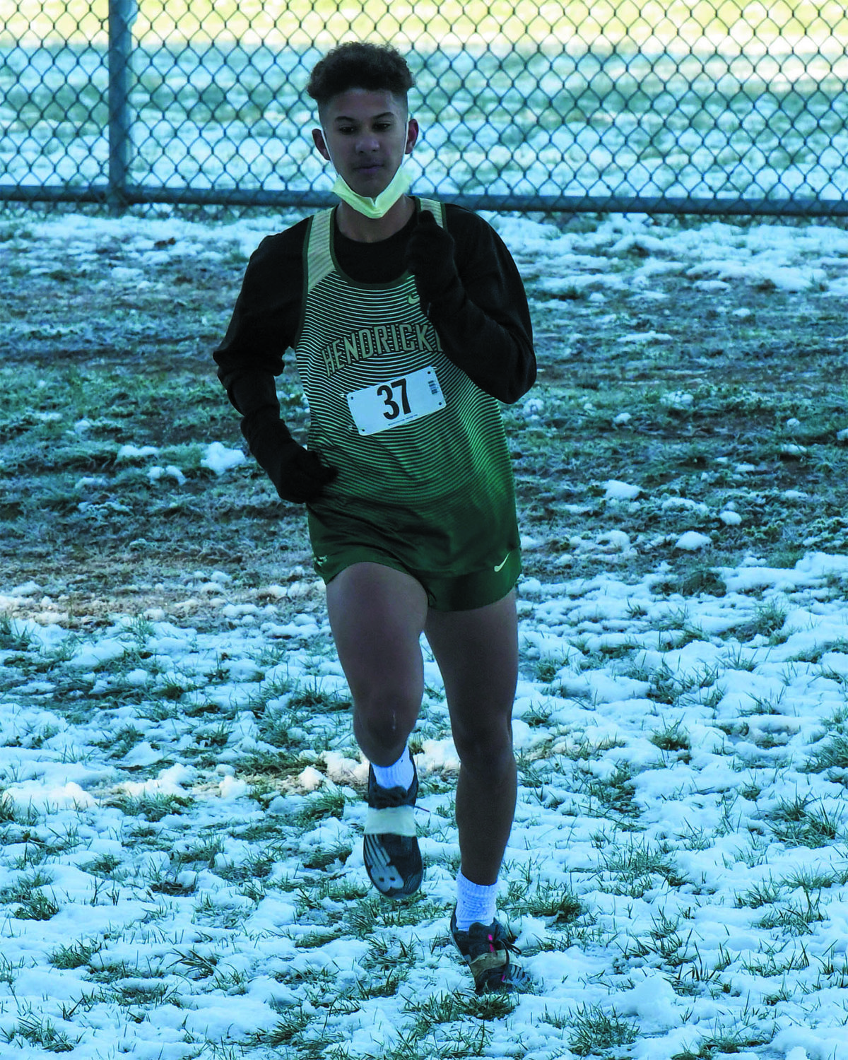 FIRST PLACE: Hendricken's Josh Breard, who finished first overall in the junior varsity