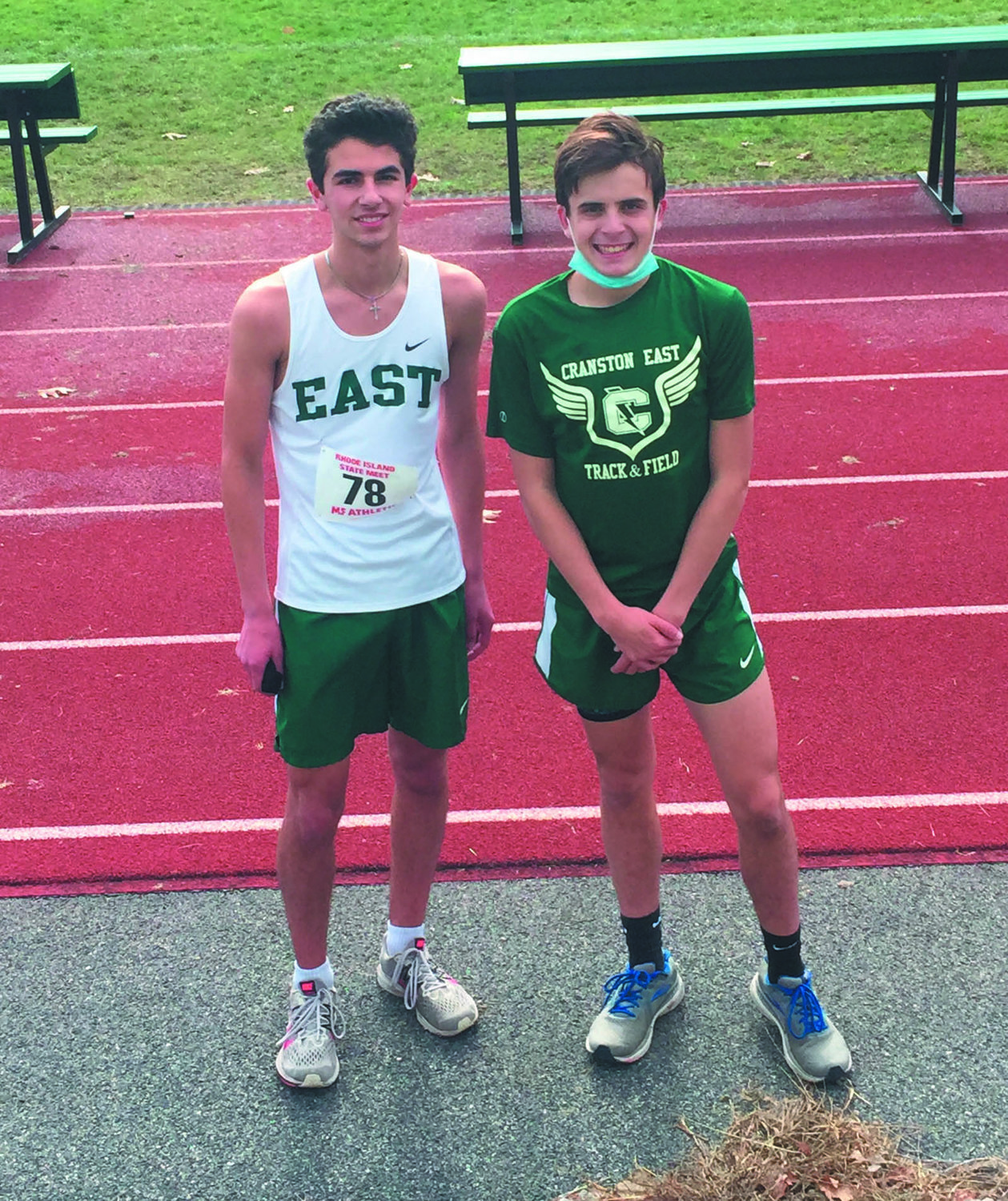 LEADING THE WAY: Cranston East's Nicholas Cobb and Allen Kevorkian.